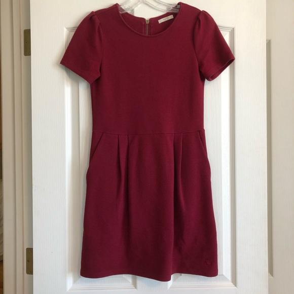 Jack Wills Dresses & Skirts - Jack Wills Pleated Burgundy Dress